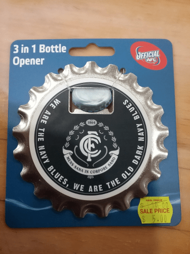 Footy Plus More BBQ bottle opener Carlton Blues 3 in 1 Bottle Opener