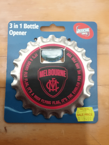 Footy Plus More BBQ bottle opener Melbourne Demons 3 In 1 Bottle Opener
