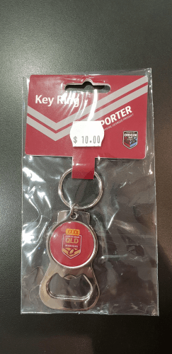 Footy Plus More BBQ bottle opener Queensland Maroons State of origin Key Ring Bottle opener