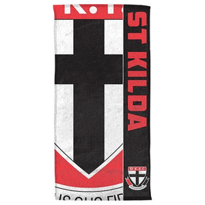 Footy Plus More BEACH TOWEL St Kilda Saints Beach Towel
