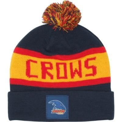 Footy Plus More BEANIE Adelaide Crows Bar Beanie