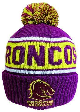 Footy Plus More BEANIE BRISBANE BRONCOS STRIKER BEANIE