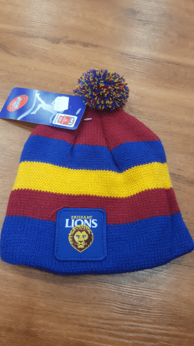 Footy Plus More BEANIE Brisbane Lions Infant Beanie