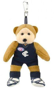 Footy Plus More BEANIE Carlton Blues Beanie Kid Bag Tag