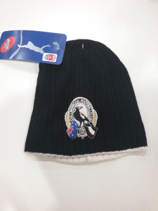 Footy Plus More BEANIE Collingwood Magpies knit surf beanie