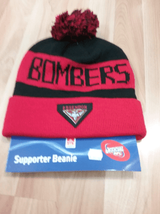 Footy Plus More BEANIE Essendon Bombers Bar Beanie