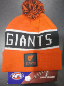 Footy Plus More BEANIE Greater Western Sydney Giants Bar Beanie