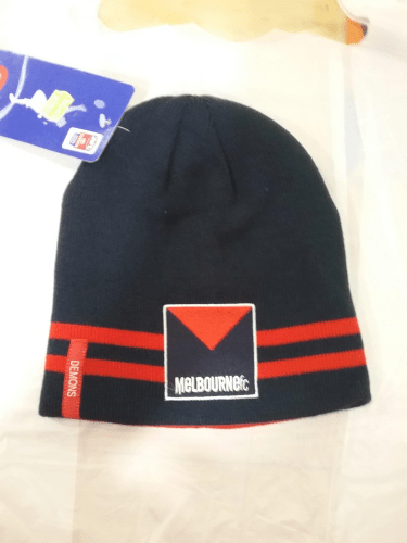 Footy Plus More BEANIE Melbourne Demons reversible beanie
