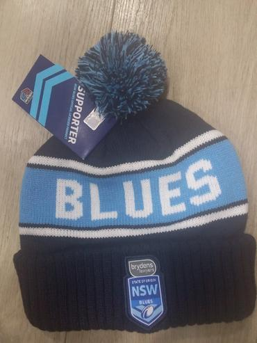 Footy Plus More BEANIE NEW SOUTH WALES BLUES STRIKER BEANIE