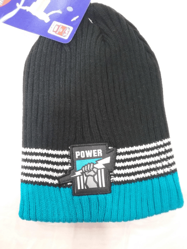 Footy Plus More BEANIE Port Adelaide Power flex beanie