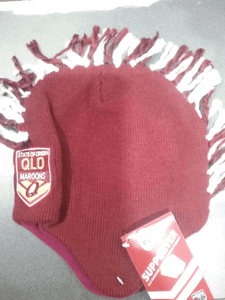 Footy Plus More BEANIE Queensland Maroons Mohawk Beanie