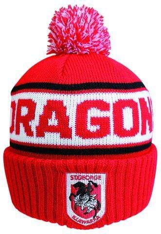 Footy Plus More BEANIE ST GEORGE ILLAWARRA DRAGONS STRIKER BEANIE