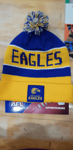 Footy Plus More BEANIE West Coast Eagles Bar Beanie