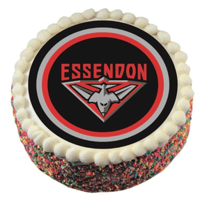 Footy Plus More CAKE DECORATIONS Essendon Bombers Edible Cake Icing Image