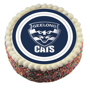 Footy Plus More CAKE DECORATIONS Geelong Cats Edible Cake Icing Image