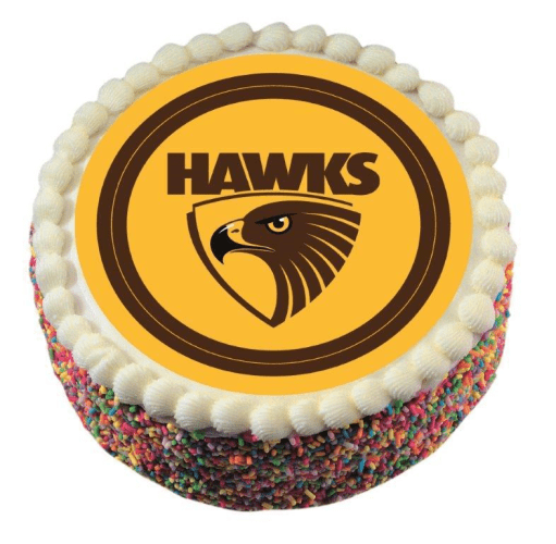 Footy Plus More CAKE DECORATIONS Hawthorn Hawks Edible Cake Icing Image
