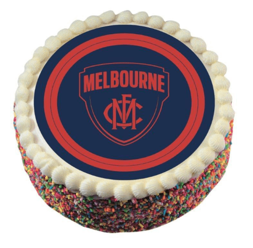 Footy Plus More CAKE DECORATIONS Melbourne Demons Edible Cake Icing Image