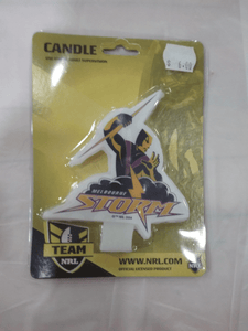Footy Plus More CAKE DECORATIONS Melbourne storm candle
