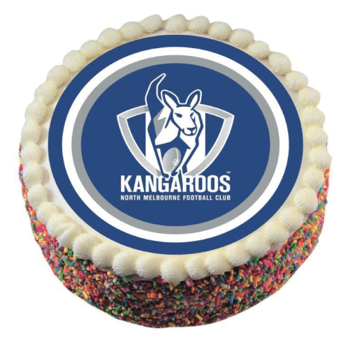 Footy Plus More CAKE DECORATIONS North Melbourne Kangaroos Edible Cake Icing Image