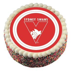 Footy Plus More CAKE DECORATIONS Sydney Swans Edible Cake Image