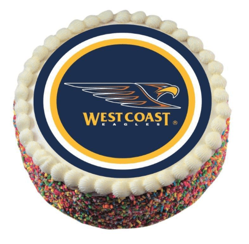Footy Plus More CAKE DECORATIONS West Coast Eagles Edible Icing Image