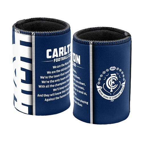 Footy Plus More Can Cooler Carlton Blues Team Song Can Cooler Stubby Holder