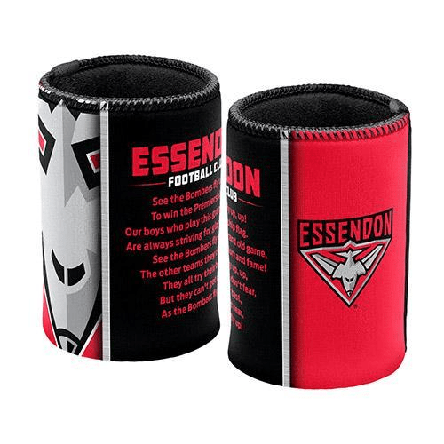 Footy Plus More Can Cooler Essendon Team Song can Cooler / Stubby Holder