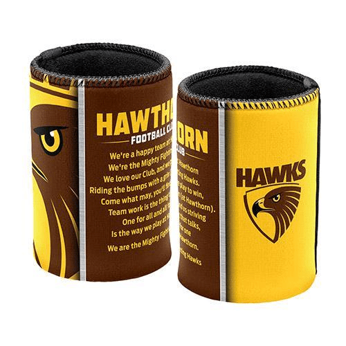 Footy Plus More Can Cooler Hawthorn Hawks Team Song Can Cooler Stubby Holder