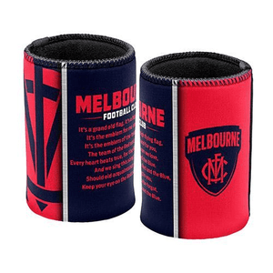 Footy Plus More Can Cooler Melbounrne Demons Team Song Can Cooler Stubby Holder