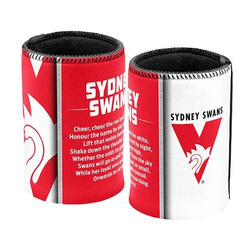 Footy Plus More Can Cooler Sydney Swans Team Song Can cooler Stubby Holder