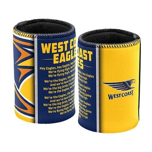 Footy Plus More Can Cooler West Coast Eagles Team Song Can Cooler