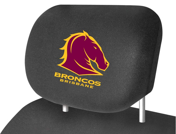 Footy Plus More car accessories Brisbane Broncos Car Headrest Covers Twin Pack