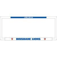 Footy Plus More car accessories Brisbane Lions Number Plate Frame