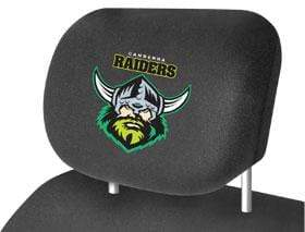 Footy Plus More car accessories Canberra Raiders Car Headrest Covers Twin Pack