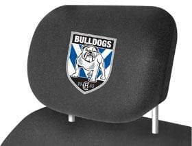 Footy Plus More car accessories Canterbury Bulldogs Car Headrest Covers Twin Pack