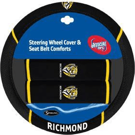 Footy Plus More car accessories RIchmond Tigers Steering Wheel Cover and Seatbelt Comforts