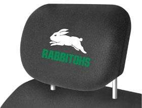 Footy Plus More car accessories South Sydney Rabbitohs Car Headrest Covers Twin Pack