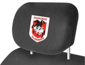 Footy Plus More car accessories St George Dragons Car Headrest Covers Twin Pack