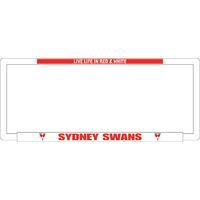 Footy Plus More car accessories Sydney Swans Number Plate Frame
