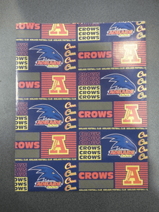 Footy Plus More cards and wrap Adelaide Crows Wrapping Paper
