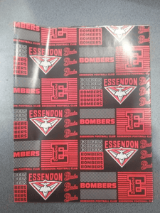 Footy Plus More cards and wrap Essendon Bombers Wrapping Paper