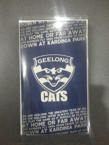 Footy Plus More cards and wrap Geelong Cats Musical Greeting Card