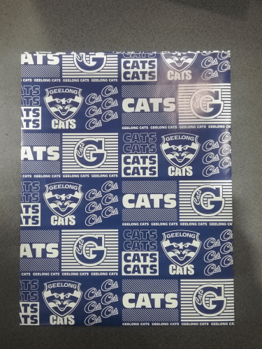 Footy Plus More cards and wrap Geelong Cats Wrapping Paper