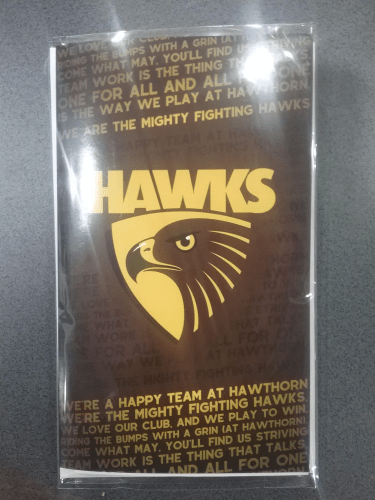 Footy Plus More cards and wrap Hawthorn Hawks Musical Greeting Card