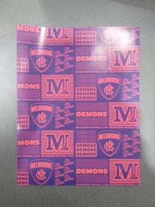 Footy Plus More cards and wrap Melbourne Demons Wrapping Paper