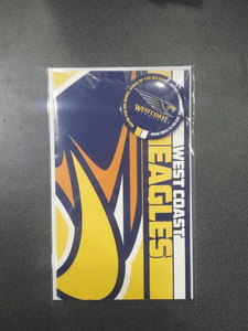 Footy Plus More cards and wrap WestCoast EaglesBadge Greeting Card