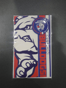 Footy Plus More cards and wrap Western Bulldogs Badge Greeting Card