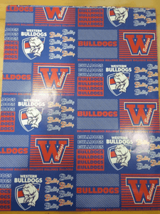 Footy Plus More cards and wrap Western Bulldogs Wrapping Paper
