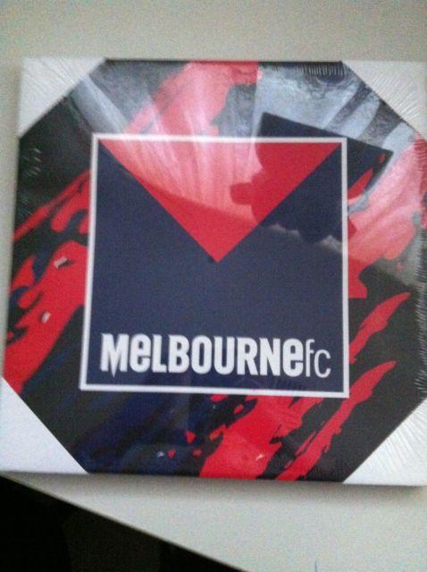 Footy Plus More carnvas Melbourne Demons Logo Canvas