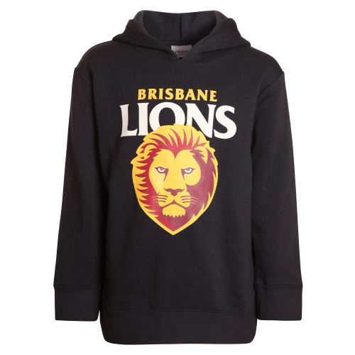 Footy Plus More Clothing Brisbane Lions Kids Logo Hoodie